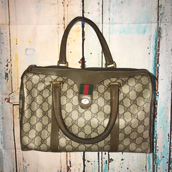 d4978332a Gucci Bags | Vintage Web Boston Doctor Bag Speedy Sachel | Poshmark